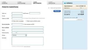 Registracija domene - korak 3 - podjetje